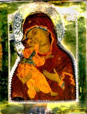 "Finished restoration of the Icon Mother of God ""Vladimirskaya"" 